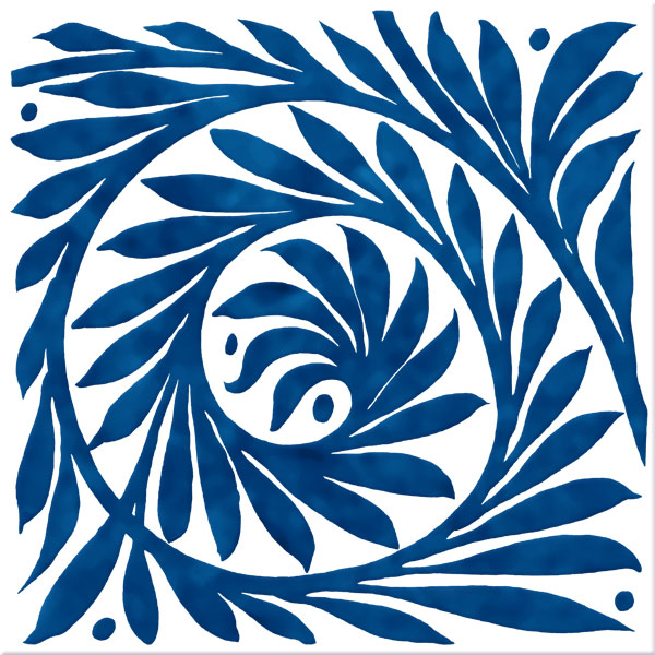 William De Morgan Blue Leaf Scroll, open