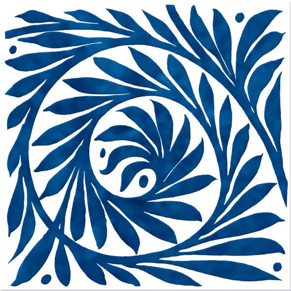 William De Morgan Blue Leaf Scroll, open