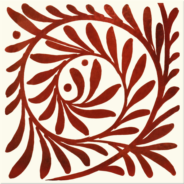 William De Morgan Red Lustre Leaf Scroll, closed
