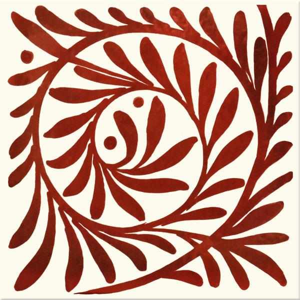 William De Morgan Red Lustre Leaf Scroll, closed