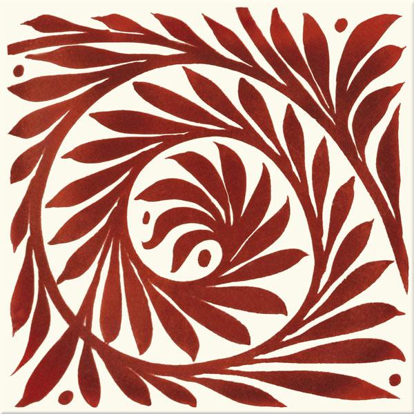William De Morgan Red Lustre Leaf Scroll, open