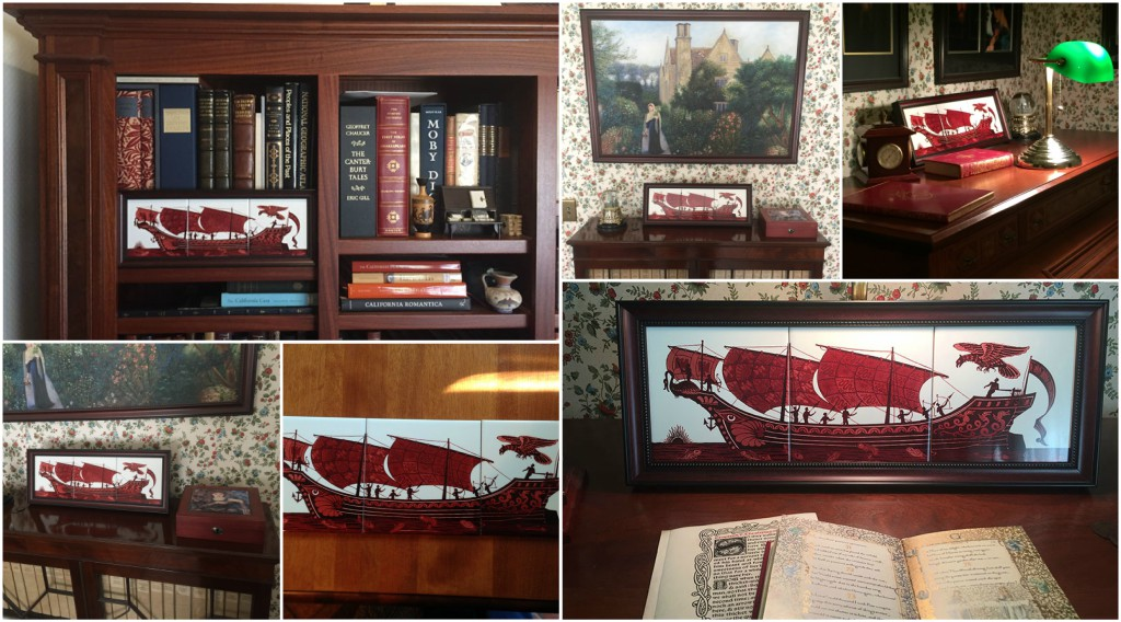 Red Lustre Ship Collage