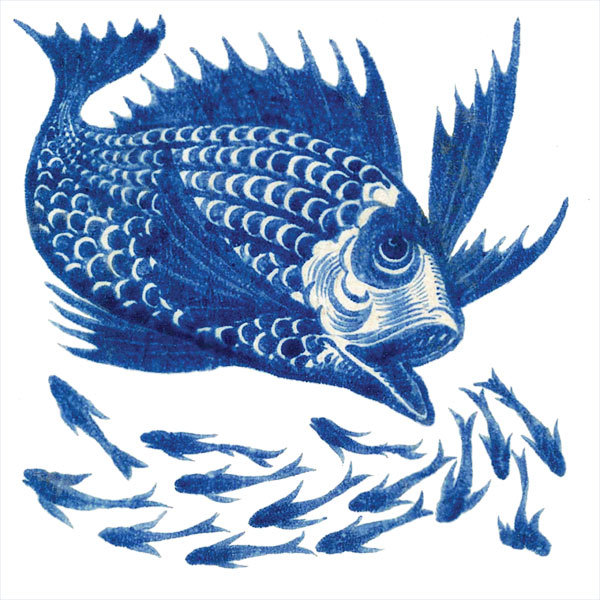 William De Blue and White Fish
