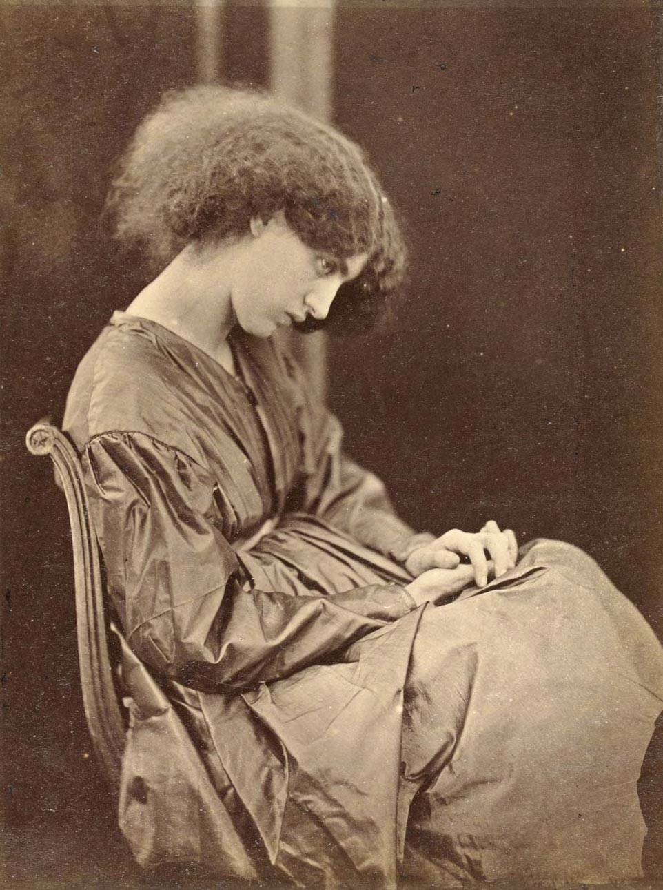 Jane Morris, posed by Rossetti, by John Parsons, 1865