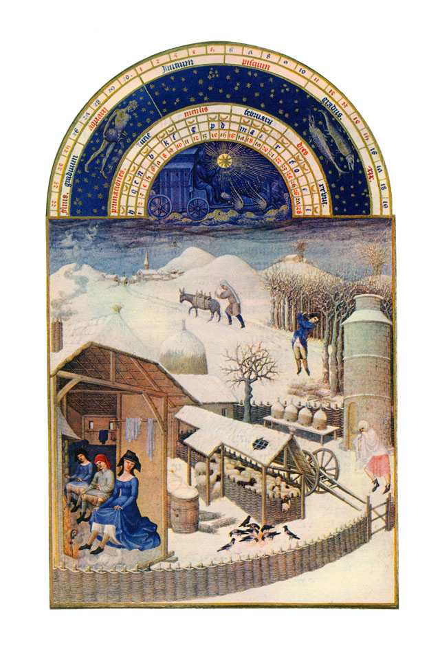 Labors of the Months of the Duc de Berry, 15th century: February