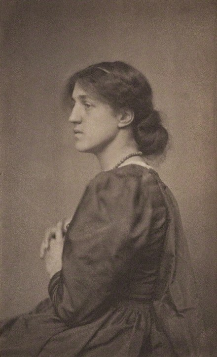 May Morris platinotype by Frederick Hollyer
