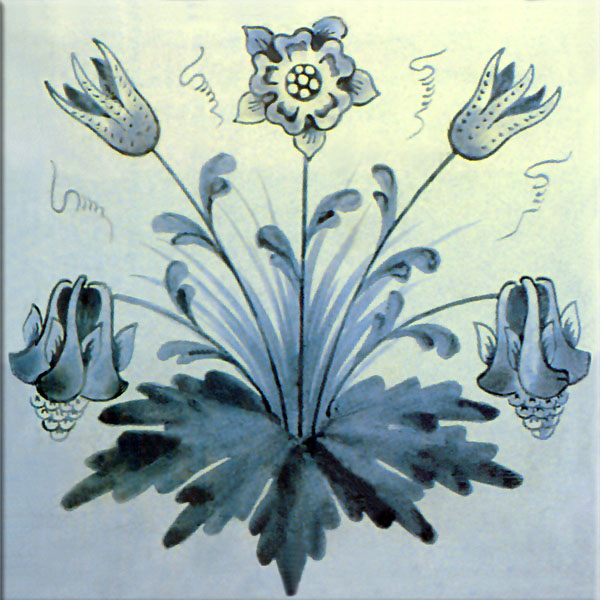 William Morris Columbine Tile