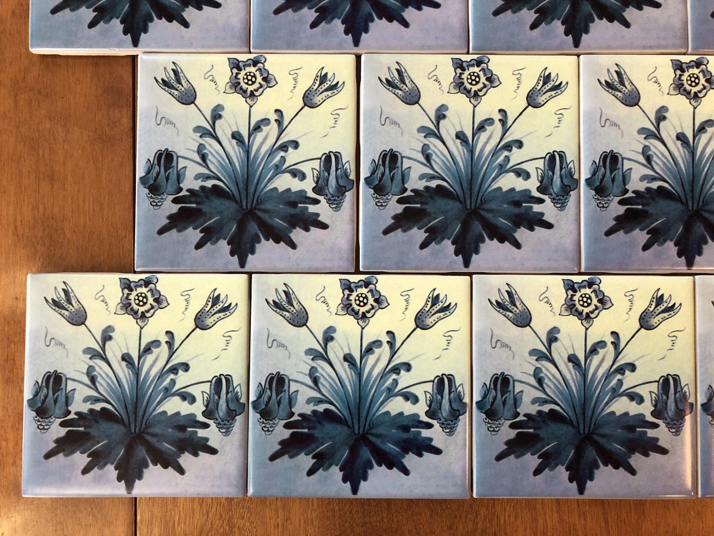 William Morris Columbine tiles