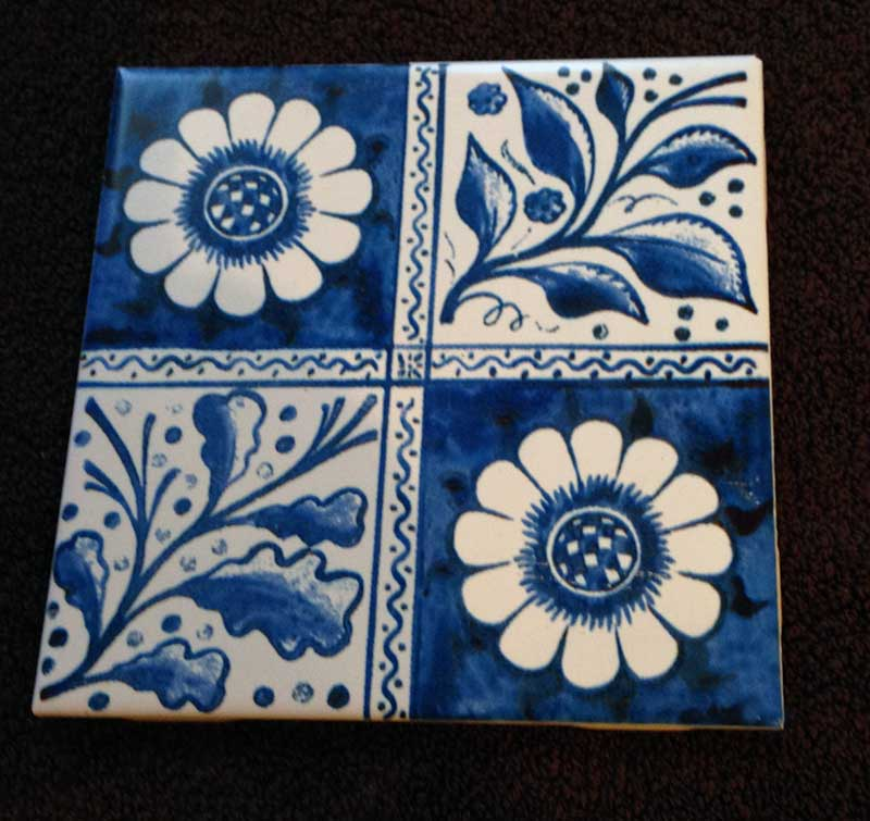 William Morris and Philip Webb Early blue longden tile, 1870s version