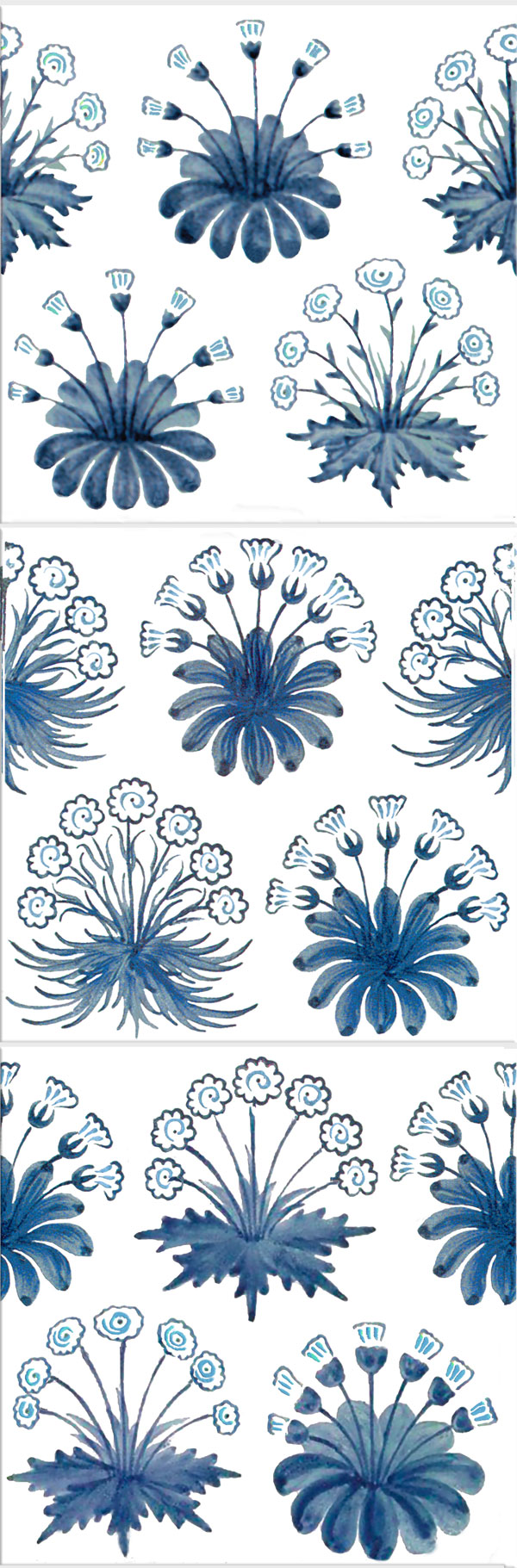 William Morris Daisy Tiles, 1860s-1880s