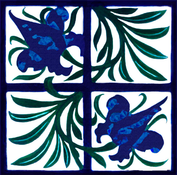 Tulip and Trellis Tile designed by William Morris, 1870