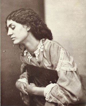 Photo of Jane Burden Morris, 1858.  Posed by Dante Gabriel Rossetti