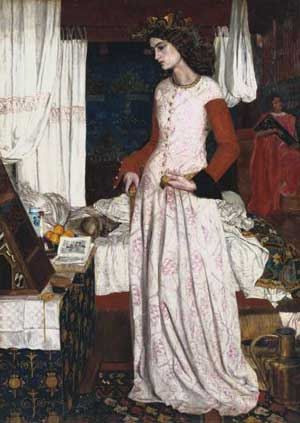 Jane Morris modeled for this painting by William Morris: La Belle Iseult