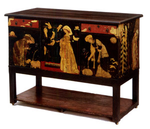 Ladies and Animals sideboard designed by Edward Burne-Jones, 1860