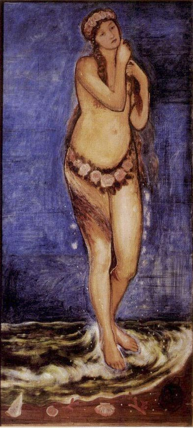 Aphrodite Rising Out of the Sea, painting by William Morris
