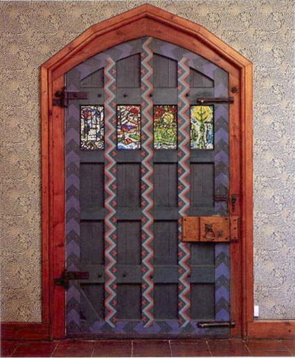 Interior of entrance door at Red House