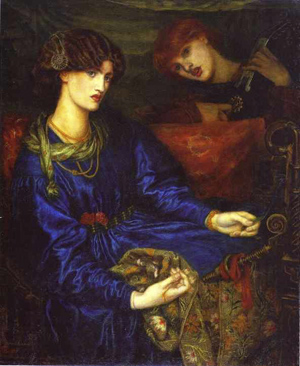 Jane Morris as Mariana, painted by Dante Gabriel Rossetti