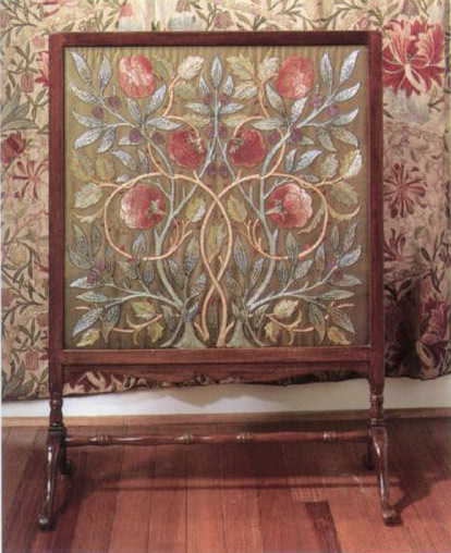 Philip Webb fireplace screen