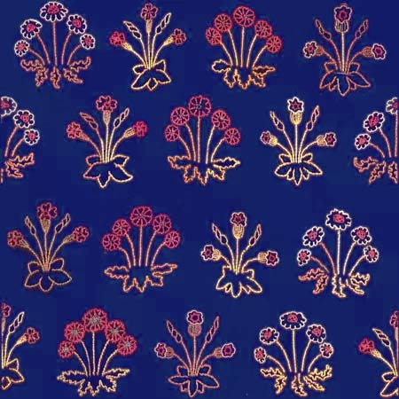 Jane Morris Daisies on Blue Serge