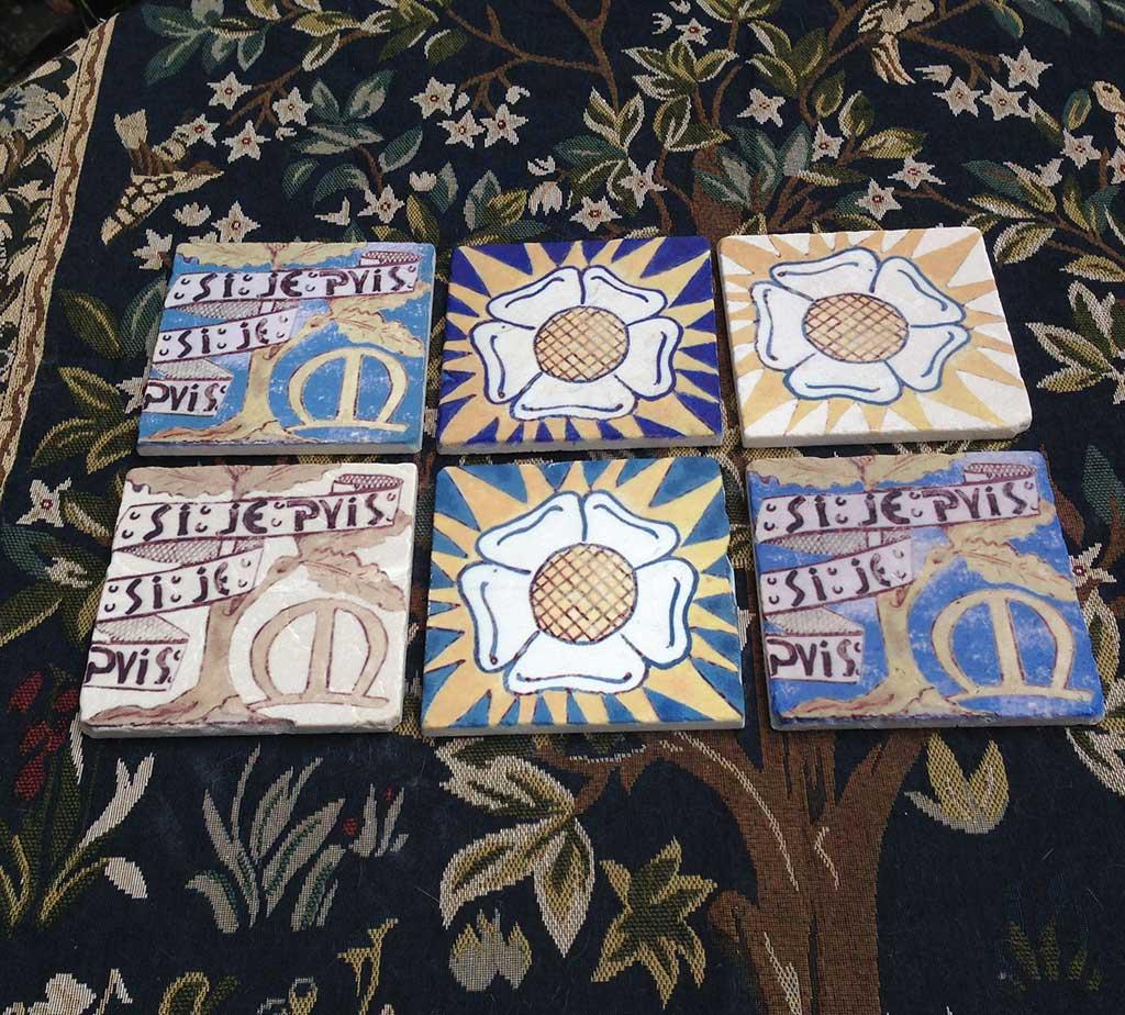 William Morris Red House Pilgrim's Rest reproduction tiles