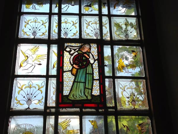 Stained glass window at Red House