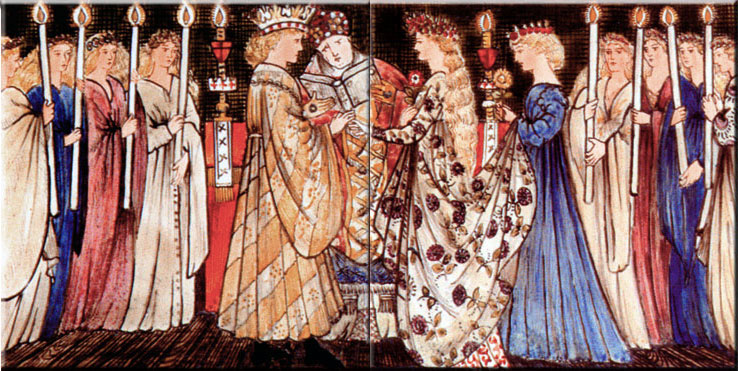 The Marriage Scene appears in only one of the Morris - Burne-Jones Cinderella overmantel tile sets