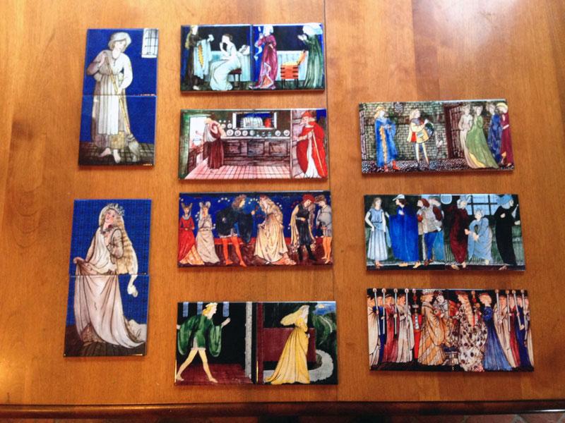 Cinderella tile set, complete set