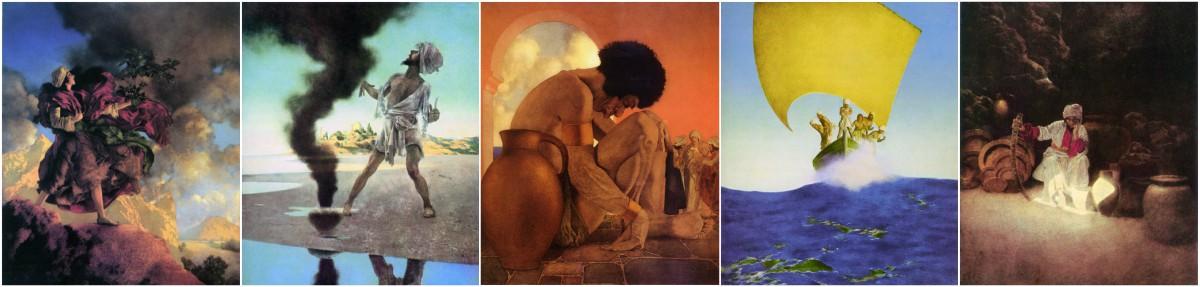 Maxfield Parrish Arabian Nights Nursery Tiles