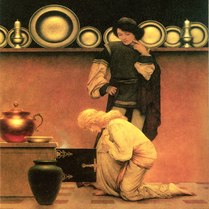 Maxfield Parrish Knave of Hearts tiles