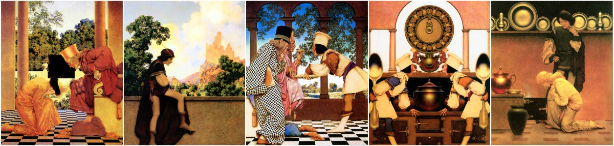 Maxfield Parrish Knave of Hearts Kitchen Tiles