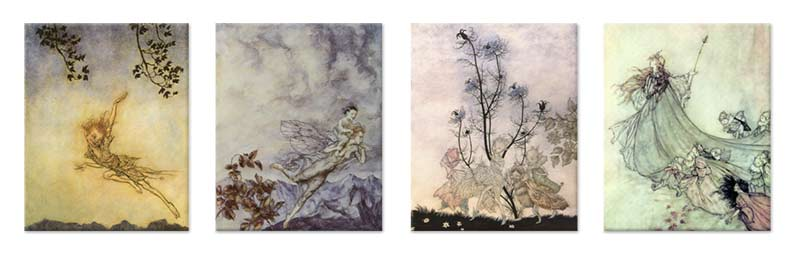Arthur Rackham fairy tiles