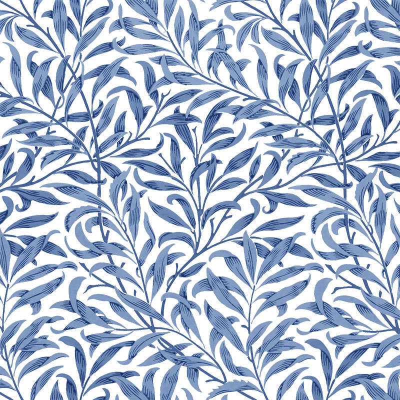 William Morris willow pattern in blue