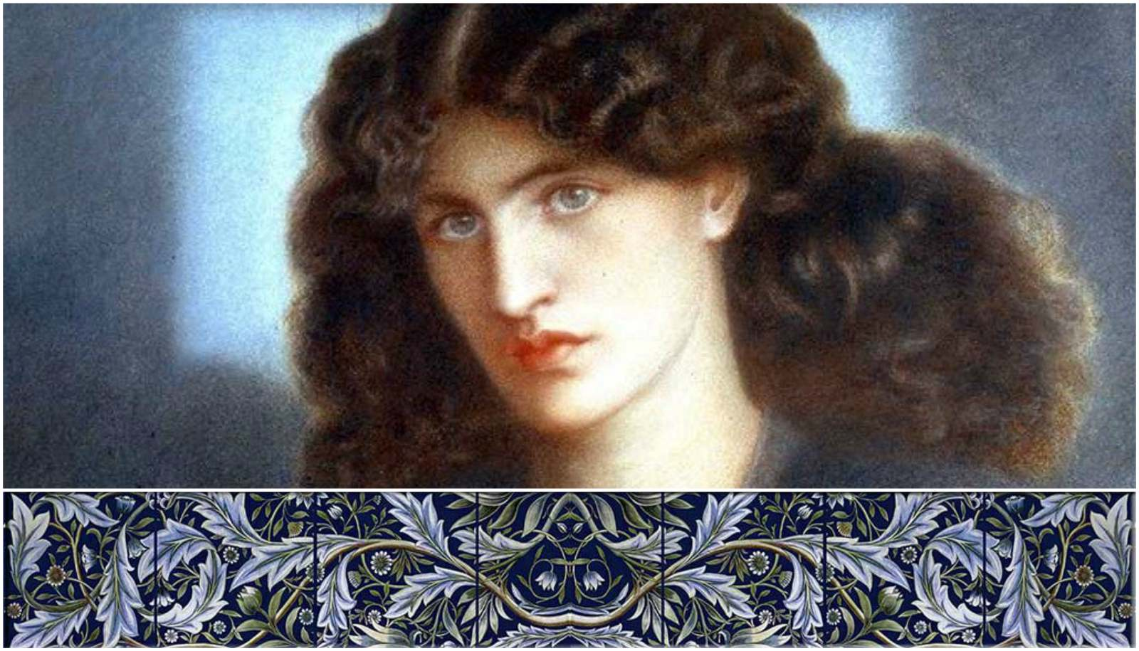 Jane Burden Morris, William De Morgan and William Morris collaboration: Membland tile panels (detail)