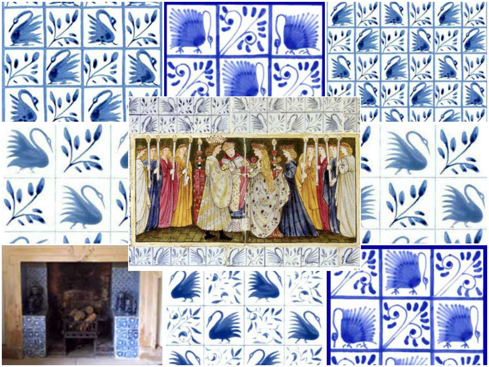Morris And Co Swan Pattern Tiles From Kelmscott And The Hill