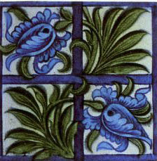 William De Morgan quad tile
