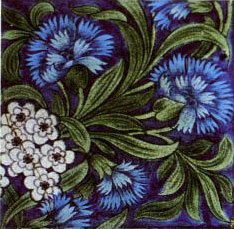 William De Morgan underglaze tile