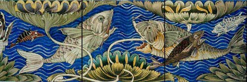 William De Morgan Persian Fish Frieze