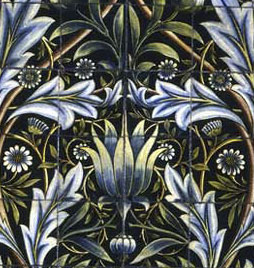 Membland mural detail, William Morris