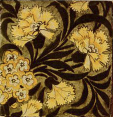 William Morris overglaze tile