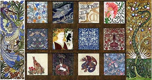 William Morris Tile, Assorted Tiles