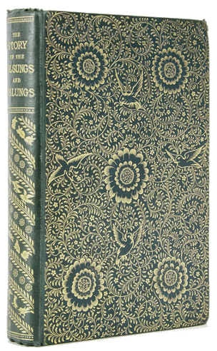 William Morris Story of the Volsungs and Nibelungs cover, designed by William Morris and Philip Webb