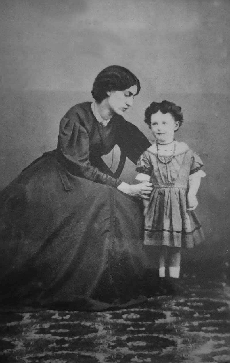 Jane and Jenny Morris, 1864.