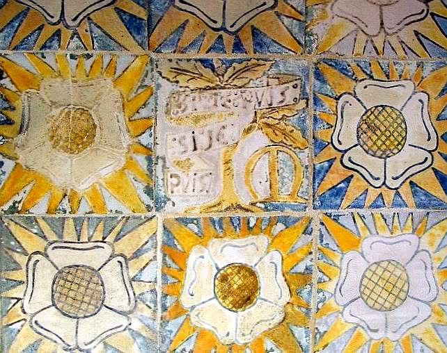 Original 'Pilgrim's Rest' porch tiles at Red House