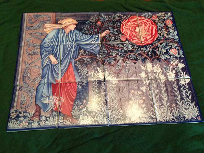 Heart of Rose ceramic tile mural - WilliamMorrisTile.com