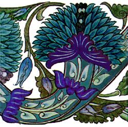 William De Morgan, Blue Peony
