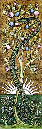 william DeMorgan Tree of Life panels