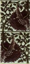 De Morgan underglazed tile in William Morris design