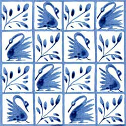 Fairy tale swan surround from The Hill, in 66 squares on 4.25-inch tile