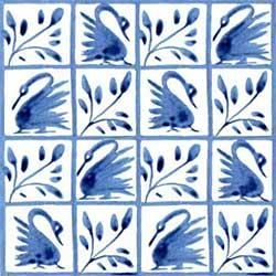 William Morris early Swan tiles