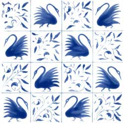 16 inch late swan version tile.